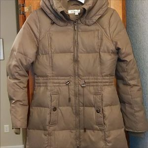 Down Parka Puffer Coat with Drawstring Waist